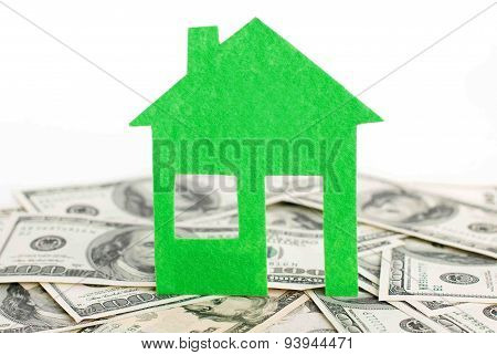 Dollar and green home model