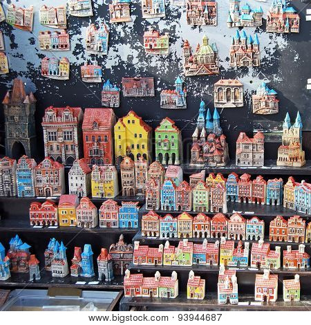 Souvenir buildings, Prague.