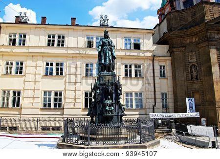 Charles IV statue, Prague.