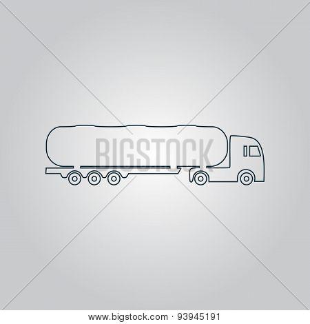 Tank car icon. Trailer