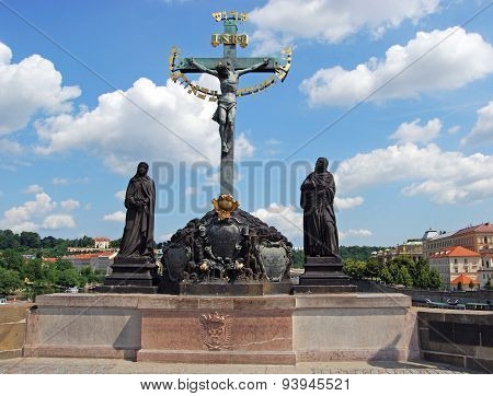 Holy Crucifix and Calvary statue, Prague.