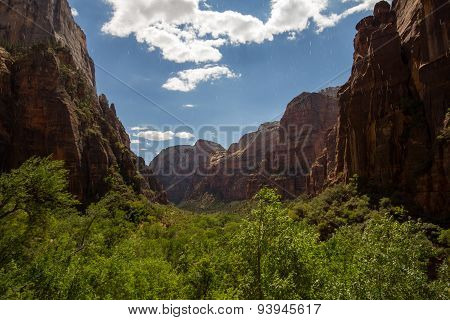 View from the Weeping Rock in Zion National Park