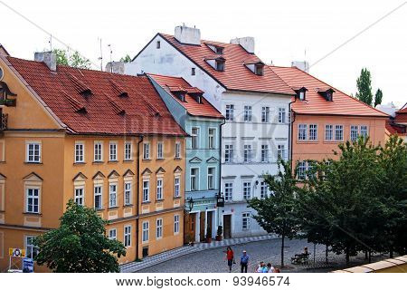 City centre buildings, Prague.
