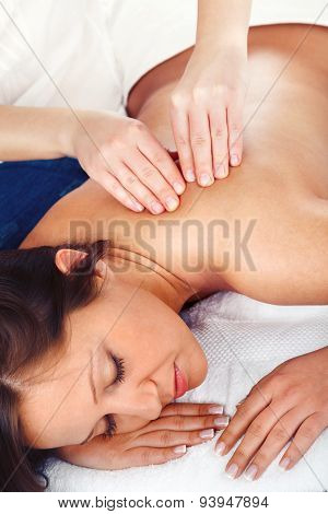 Young Woman Having Massage