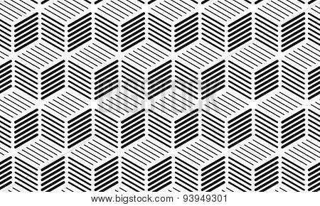 Cubes Of Lines Seamless Background