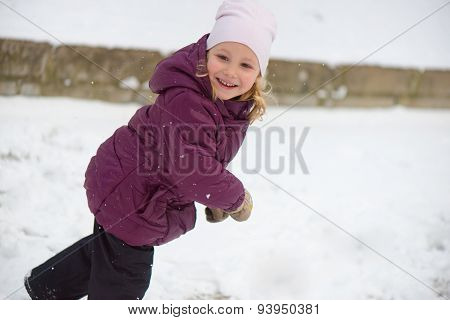 Children Throwing Snowballs