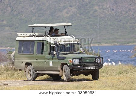 Safari Jeep With Tourists, Editorial