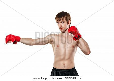 Fighter Mixed Martial Strike Directly