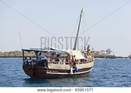 Tourist Boat In Kenya, Editorial