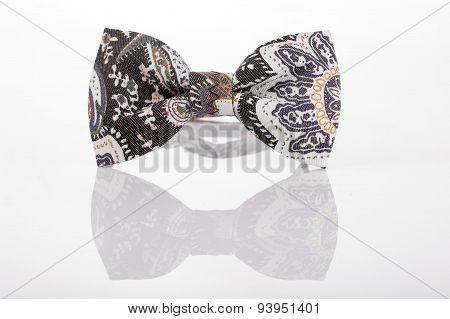 butterfly tie with an abstract pattern