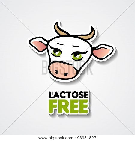 Lactose free illustration with a cow