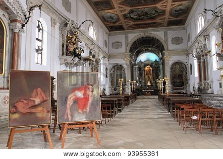 Interior of Piran Cathedral