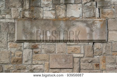 Stone Wall With Flagstone