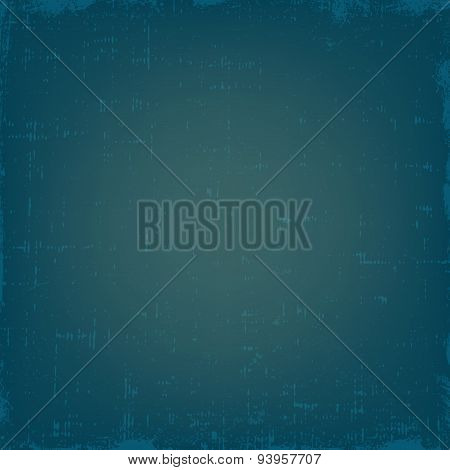 Vintage blue grunge vector texture or background with gradient