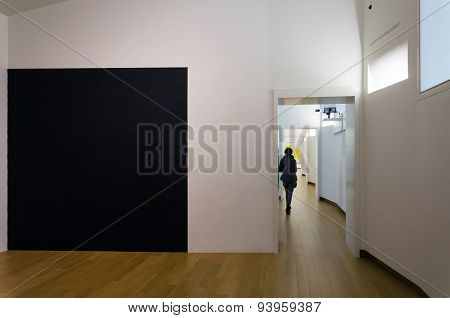 Amsterdam, Netherlands - May 6, 2015: People Visit Stedelijk Musem In Amsterdam