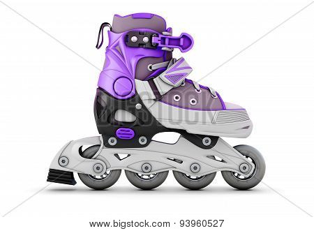 Illustration Roller Skate On White
