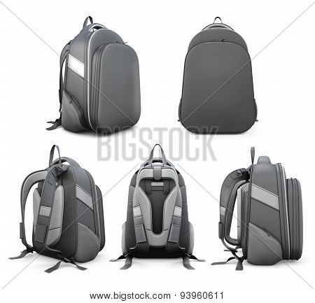 Backpack From Different Angles