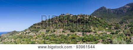 Panorama Of Hilltop Village Deia