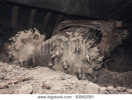 ?oal Machine In Underground Tunnel