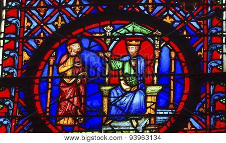 King Advisor Stained Glass Sainte Chapelle Paris France
