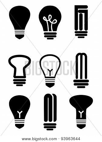 lightbulbs black