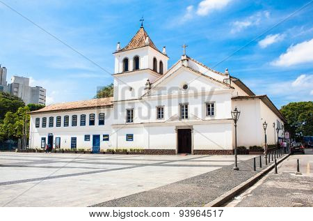 SAO PAOLO,BRAZIL-Aplil 17,2015: Patio do Colegio is the name given to the historical Jesuit church and school in Sao Paulo, Brazil on April 17, 2015. Courtyard where the city started.