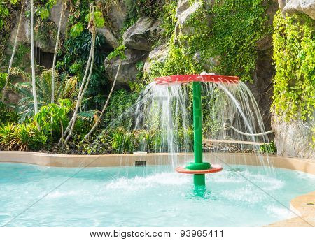 Over Head Water Shower In Swimming Pool