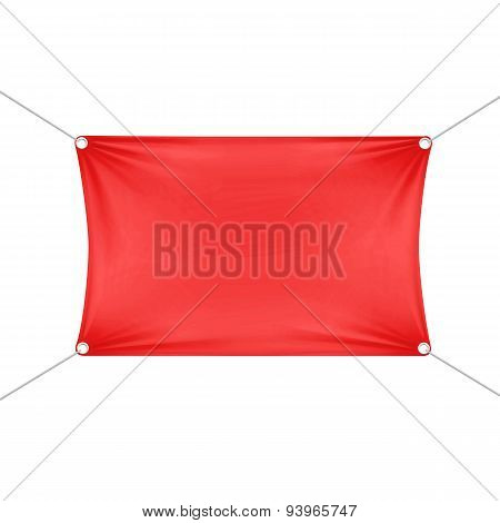 Red Blank Empty Horizontal Rectangular Banner