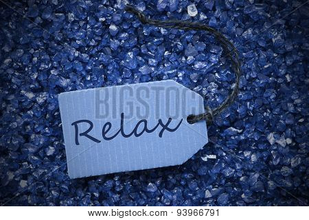 Purple Stones With Label Relax
