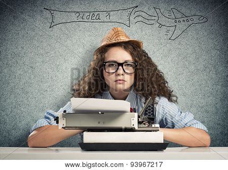 Writer waiting for inspiration