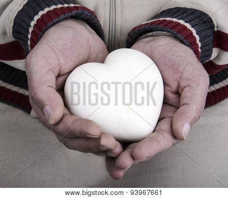 Marble Heart In His Hands