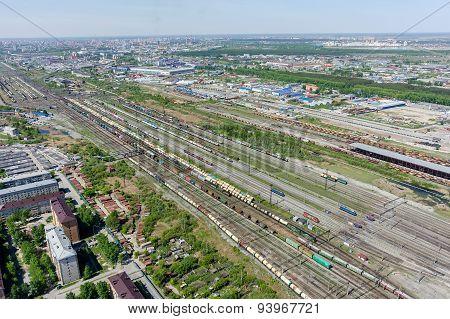 Voynovka railway node. Industrial district. Tyumen