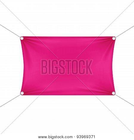 Pink Blank Empty Horizontal Rectangular Banner