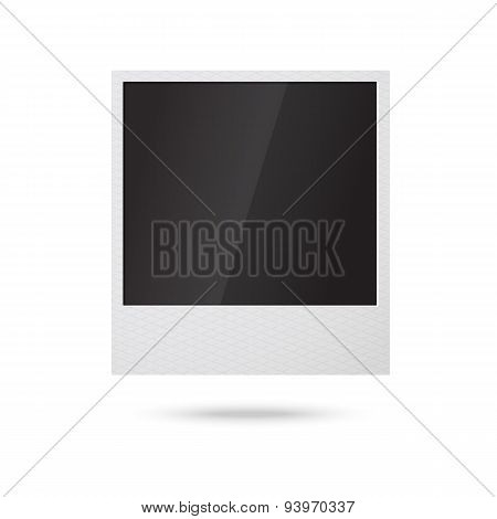 Blank vector instant photo frame in the air.