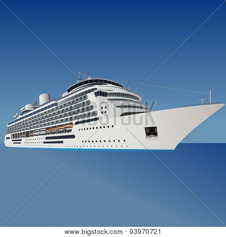cruise liner, ship, vector