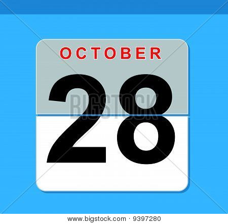 Oktober-Counter-Kalender