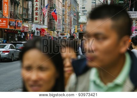 New York City - June 16: Chinatown With An Estimated Population Of 100,000 People Is A Neighborhood