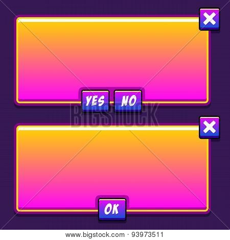Space game interface panels ui buttons