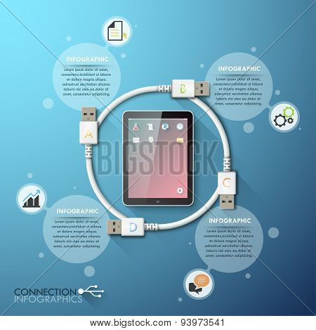 Business connection infographics template