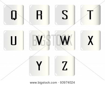 Dice Alphabet Q To Z
