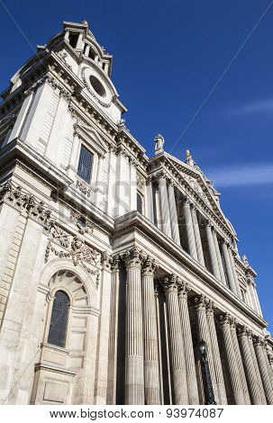 Exterior Of St. Paul's Cathedral In London