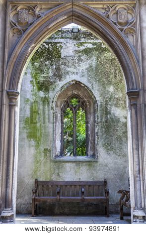 Remains Of St. Dunstan-in-the-east Church In London