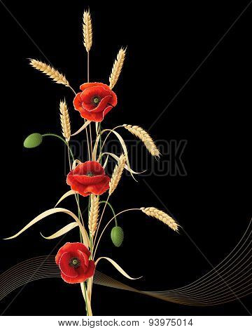 Wheat Ears And Poppies