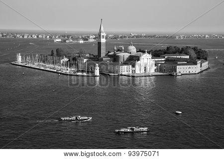 Famous San Giorgio Maggiore Island And Church Near San Marco