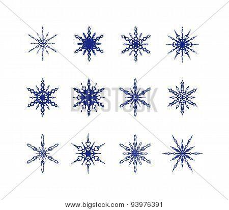 Snowflakes icon collection.
