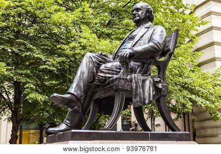George Peabody Statue In London