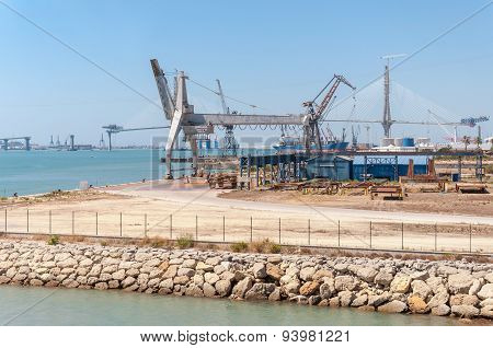 Industrial Zone Of Port In Cadiz