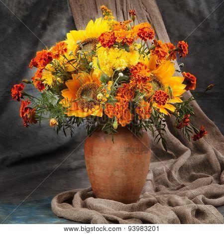Still Life. Autumn Bouquet Flower