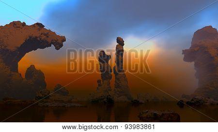 Age-old naked rocks