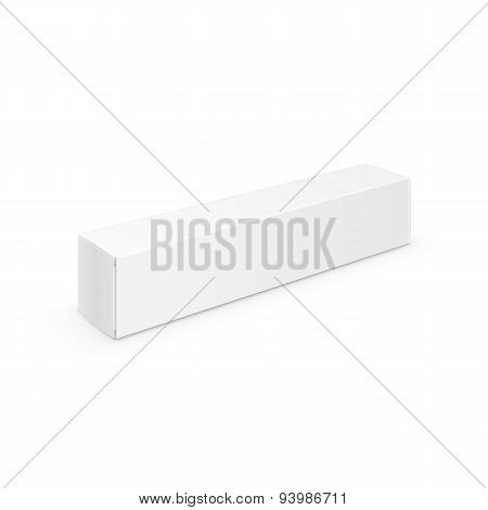 White Blank Packaging Package Pack Toothpaste Box